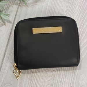 Victoria's secret black logo wallet